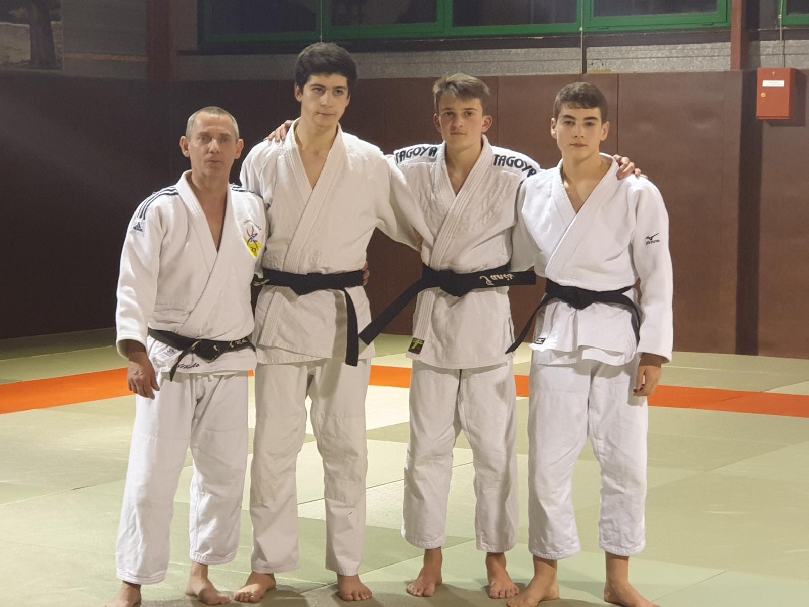 Logan Dupuis, Ianis  Hodeau et Nicolas Poulbot.
