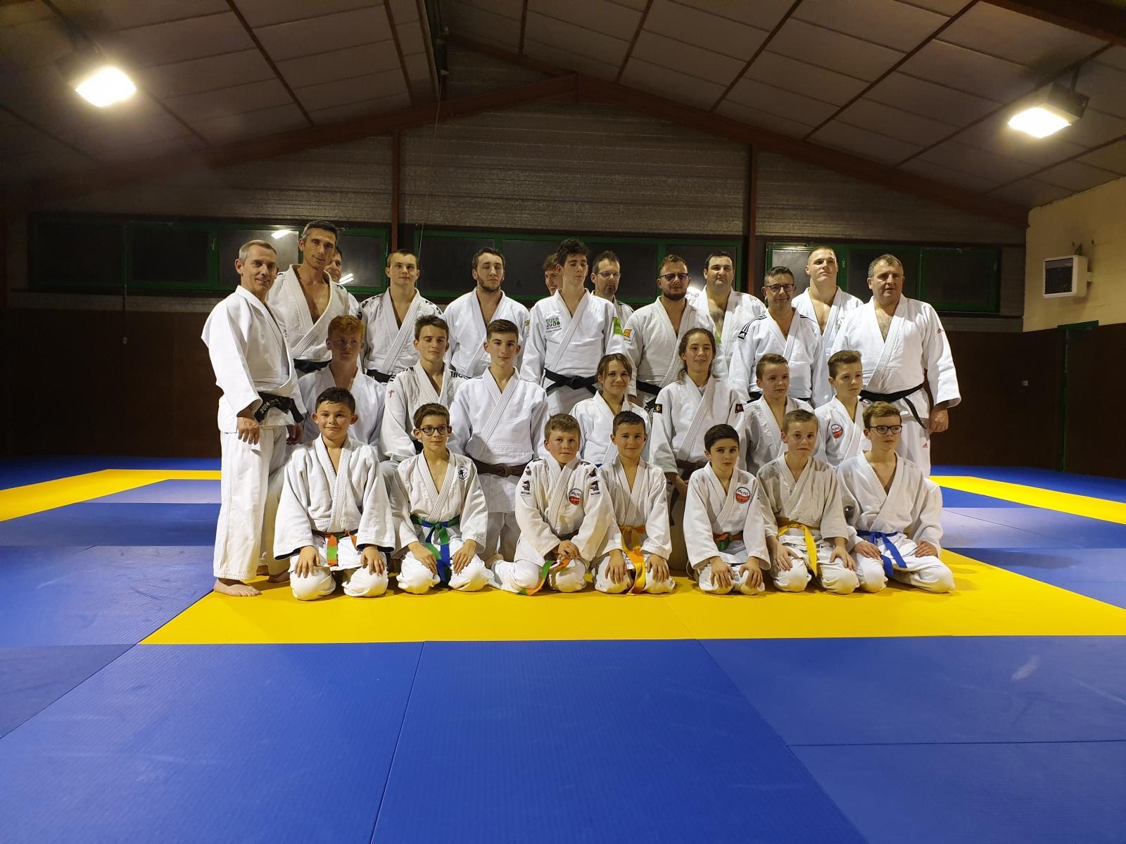 Dernier entrainement 2019 - Paul et nos Judokas de l'équipe, Eure Judo